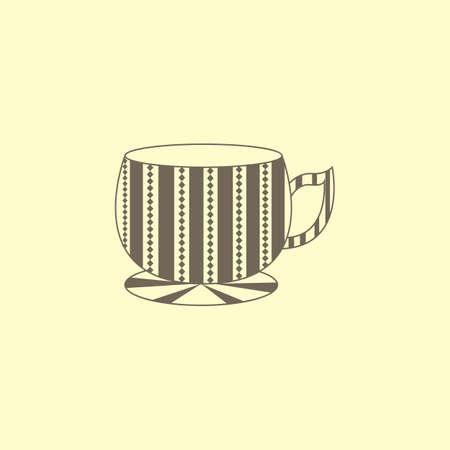 Cup met patroon Stock Illustratie