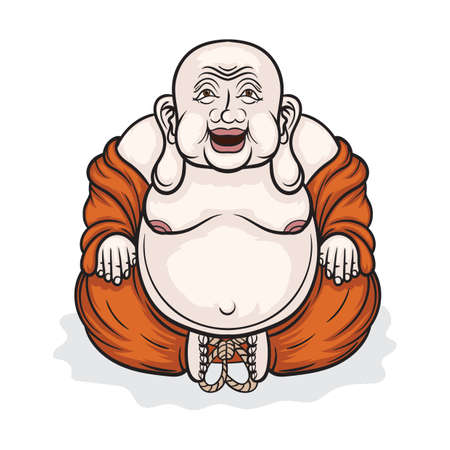 Laughing buddha Illustration