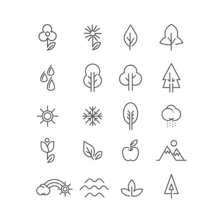 range fruit: Collection of nature icons