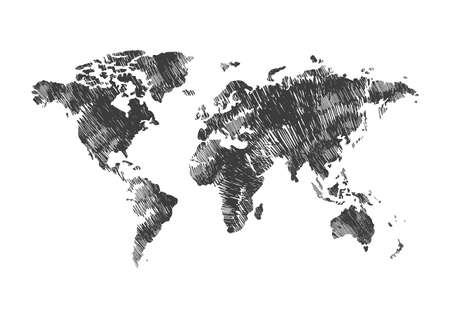 world atlas design Ilustrace