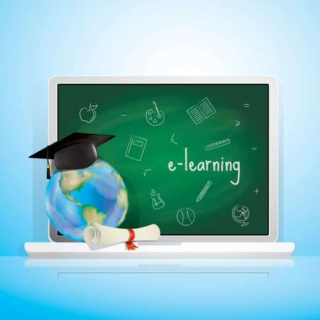 computer education: e learning concept