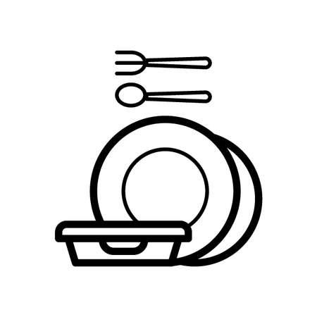 tableware on white
