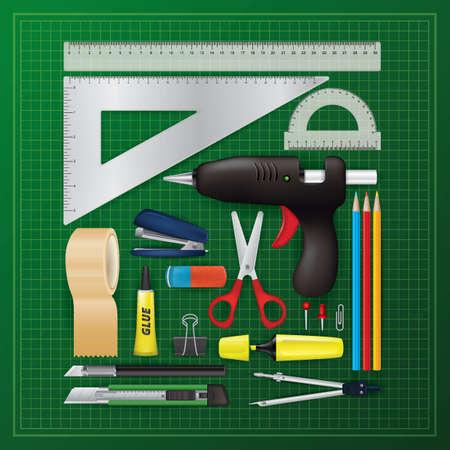 flatlay van gereedschappen