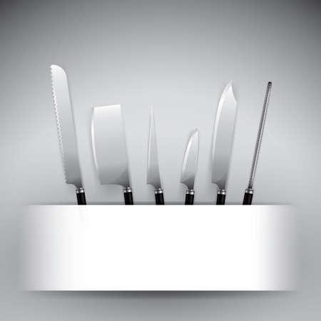 Satz Küchenmesser Standard-Bild - 76966157