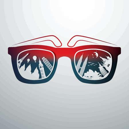 サングラス  イラスト・ベクター素材