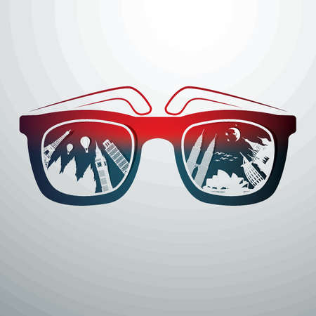 zonnebril Stock Illustratie