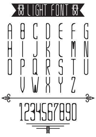 light font collection Illustration