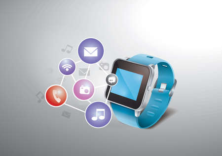 smartwatch concept Ilustração