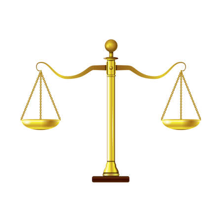 Scales of justice Ilustrace