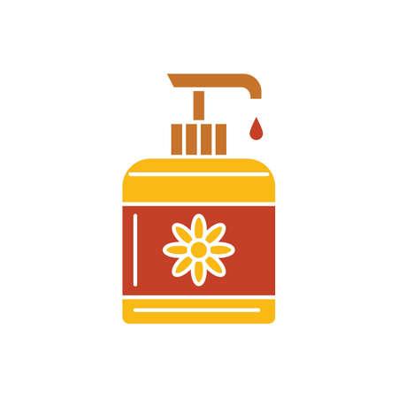 Botella de jabón líquido Foto de archivo - 76966299