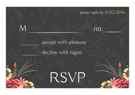 wedding invitation rsvp design