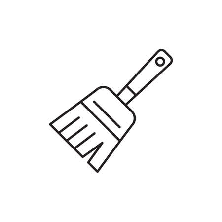 hand broom Illustration