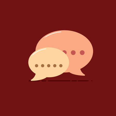 Speech bubble icon Stock Illustratie