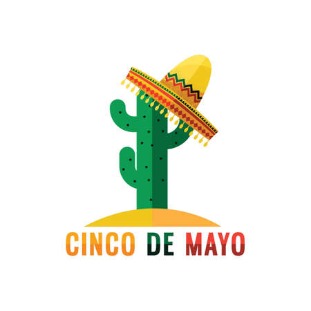 cinco de mayo cactus design Illustration