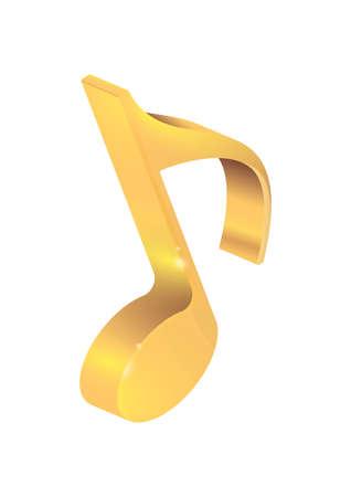 황금 음표 스톡 콘텐츠 - 76966451