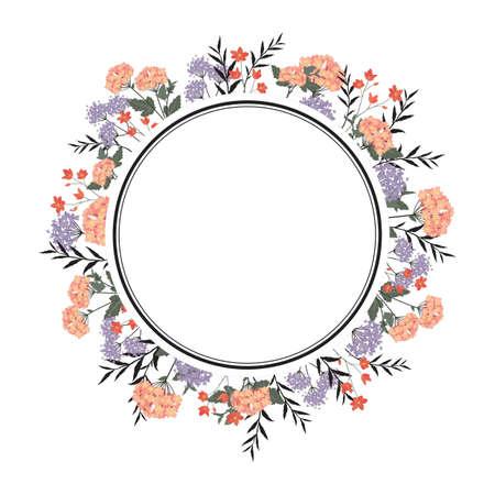 Frame met bloemenontwerp Stock Illustratie