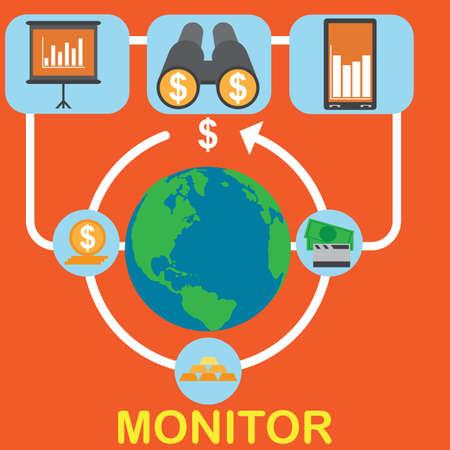 Monitoring concept Ilustração