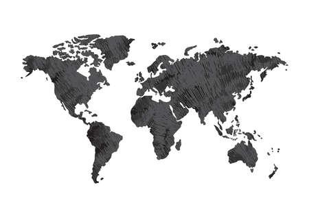 World atlas design Illustration