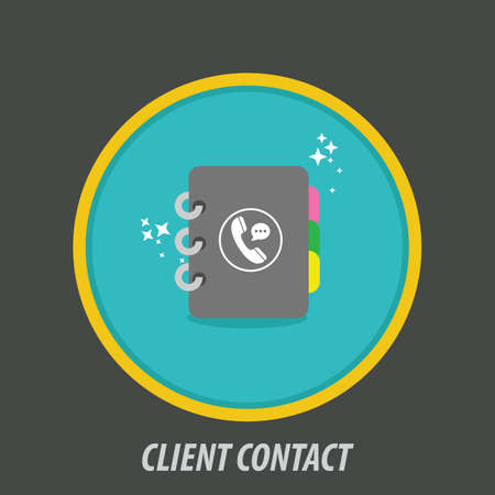 Client contact icon Иллюстрация