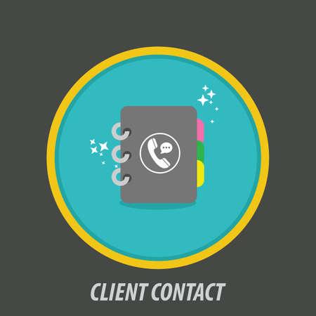 Client contact icon Ilustração