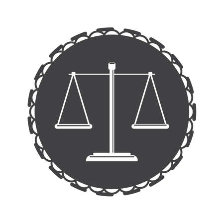 Scales of justice design Ilustrace