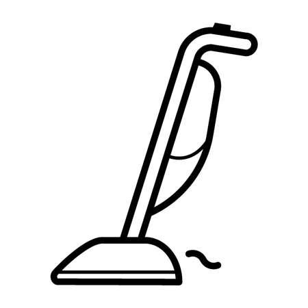 upright vacuum cleaner Stock Illustratie