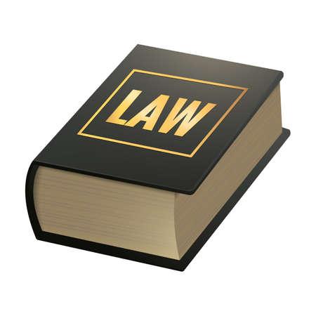 Law book Ilustrace