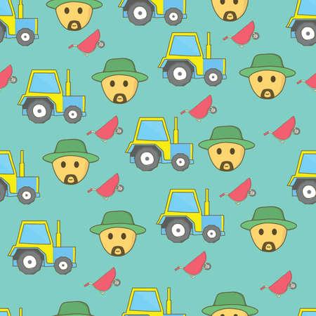 Farming background design Illustration