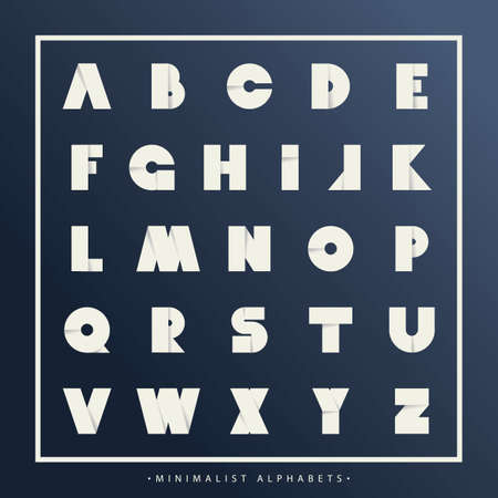 Collection of folded alphabets