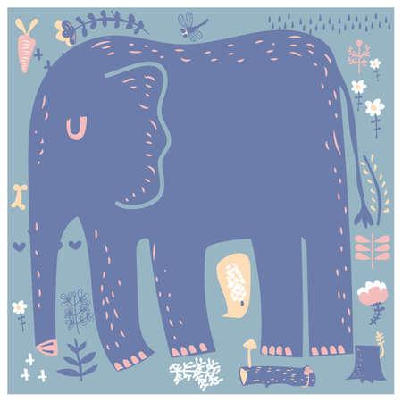 Sleeping elephant Illustration