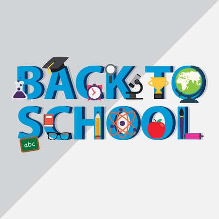 Terug naar school-concept