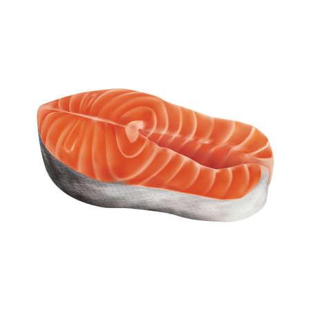 salmon steak: Salmon steak Illustration