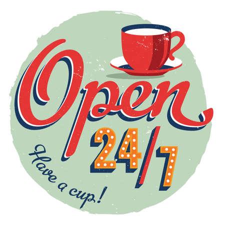 오픈 24 7 카페