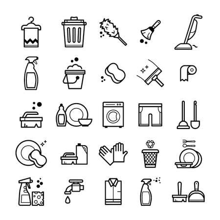 Set van huishoudelijke artikelen Stockfoto - 76960723