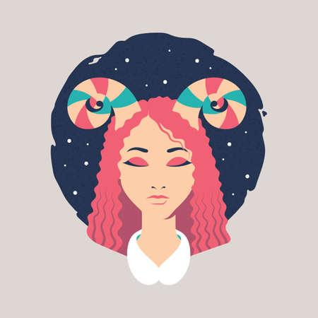 Aries icon. Illustration