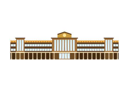 School building. Illustration