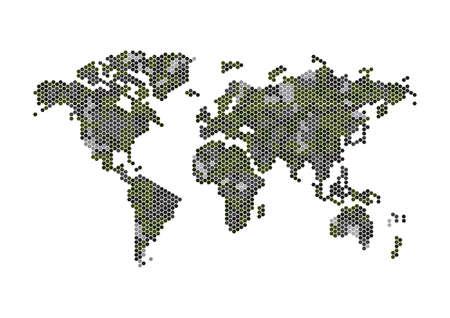 World atlas design.