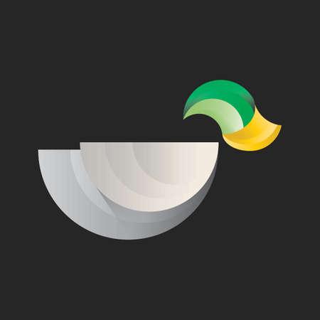 Abstract duck. Illustration