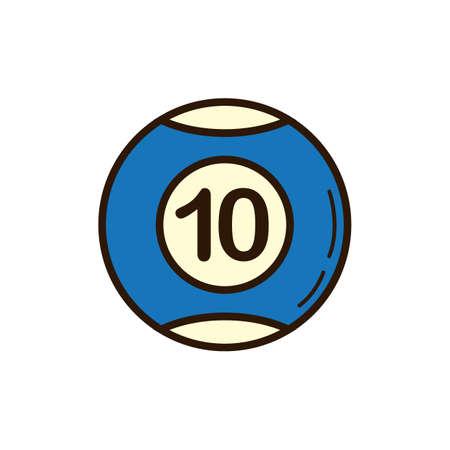 Blue billiard ball