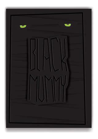 black mummy concept design 向量圖像