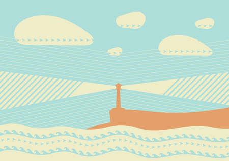 lighthouse background design Illustration
