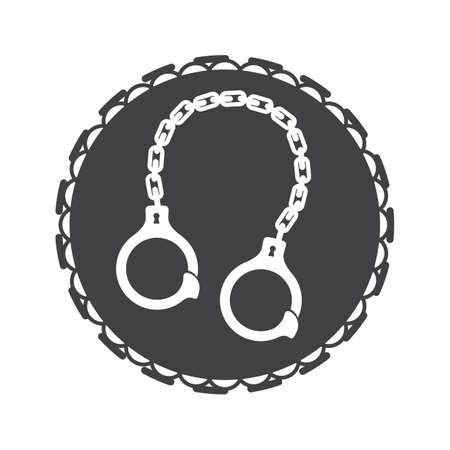 Handcuff ontwerp Stock Illustratie