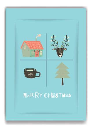 merry christmas design Illustration