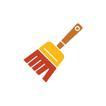 whisk broom: hand broom Illustration