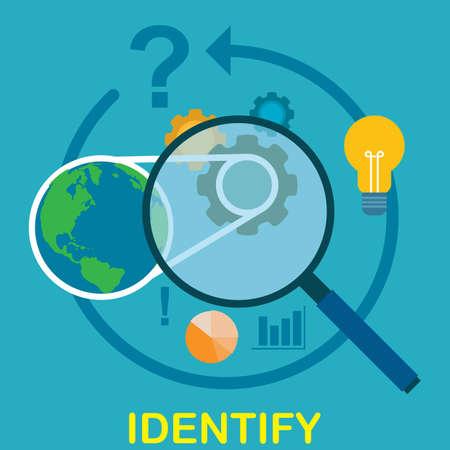 identification concept Illustration