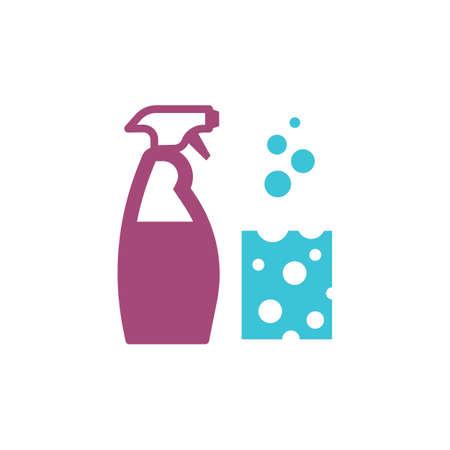 スポンジで洗浄スプレー ボトル