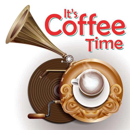 Its coffee time illustration Illustration