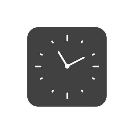 Clock icon minimalistic vector isolated flat illustration graphic design