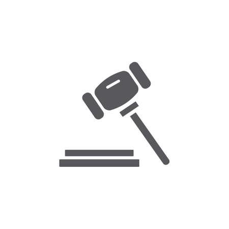 흑인과 백인 간단한 법원 망치 벡터 절연 평면 일러스트 그래픽 디자인 일러스트
