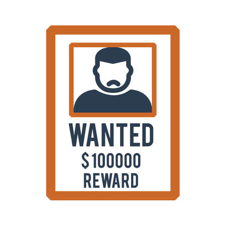 Wanted poster vector illustration isolated flat illustration graphic design